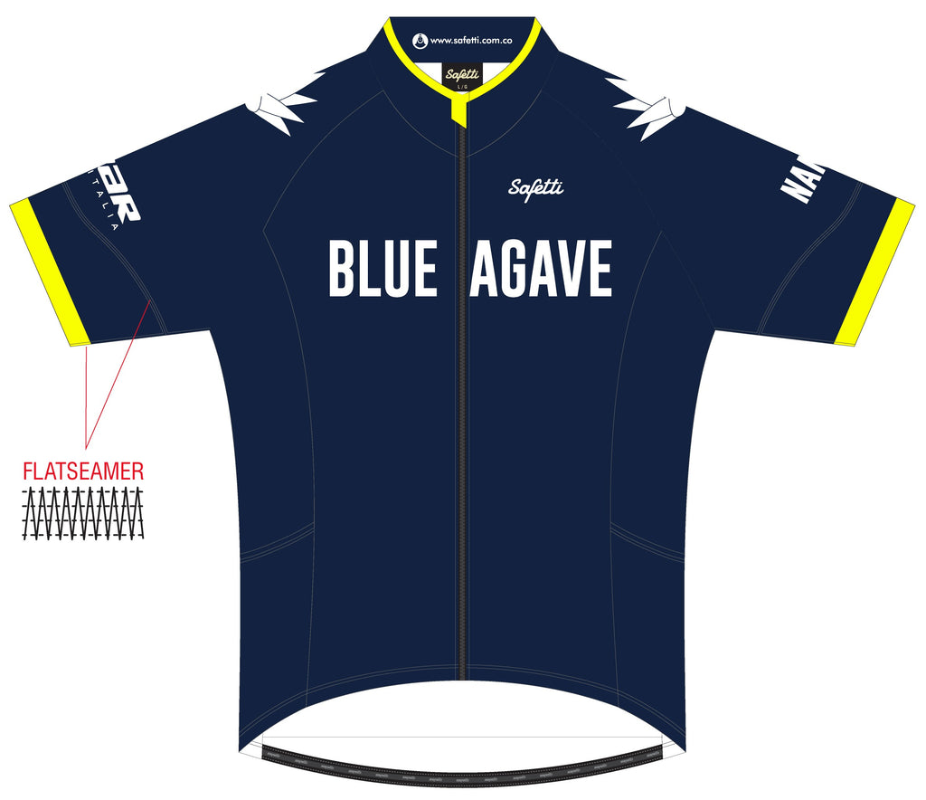 Blue Agave Cycling - DSG1 Blue. Dogliani Short Sleeve Cycling Jersey. Women