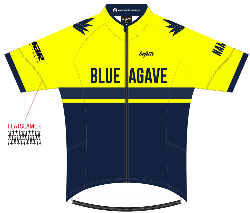 Blue Agave Cycling - DSG2 Yellow. Dogliani Short Sleeve Cycling Jersey. Men