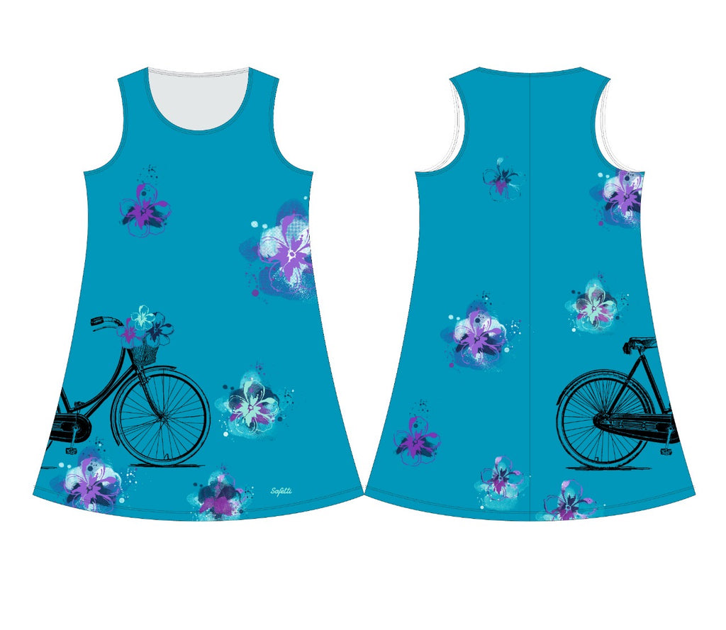 VENEZ - Dress - Cruise Bike Summer Blue