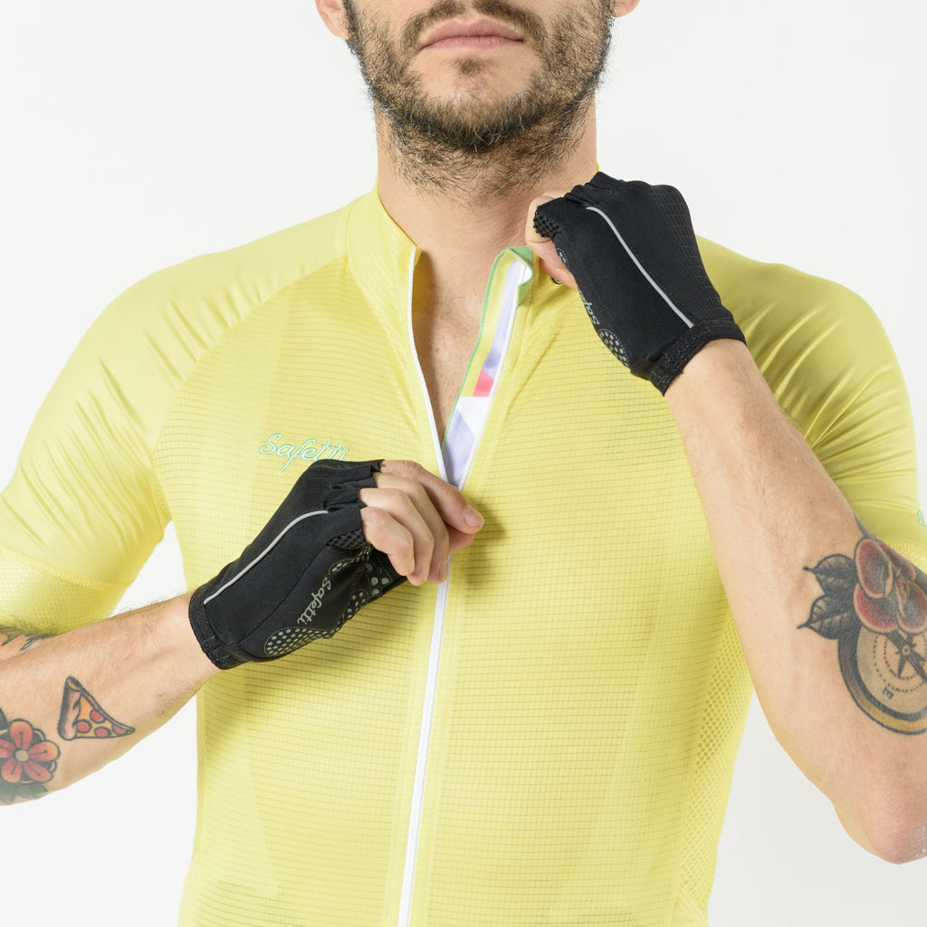 Pre-order Respirare - Brezza Giallo - Short Sleeve Jersey. Men