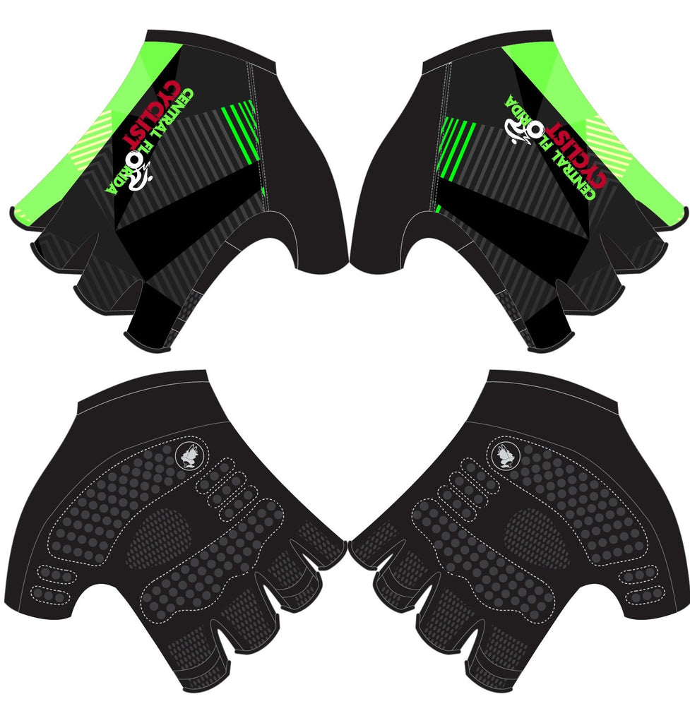 CFC - Printed Cycling Short Finger Gloves. Unisex