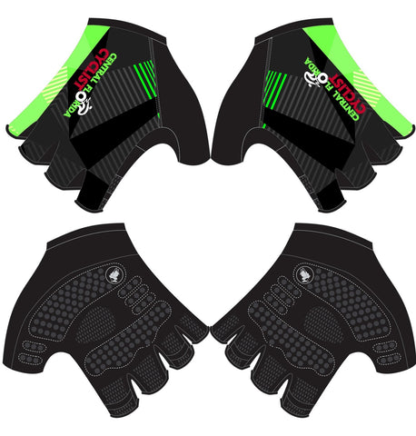 CFC - Printed Cycling Short Finger Gloves. Women