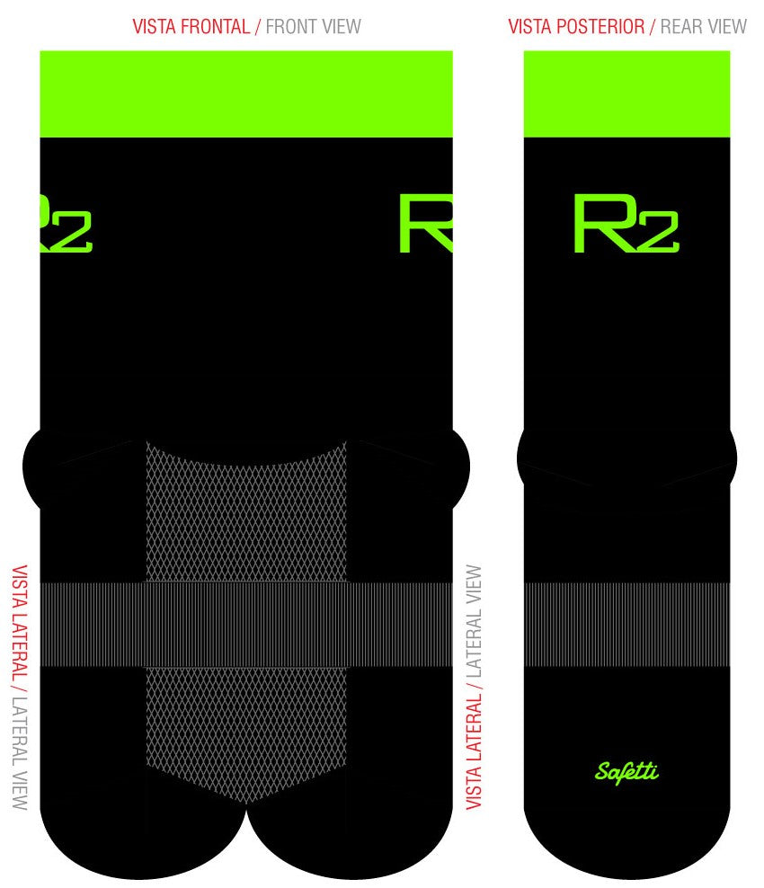 Reynolds Roofing - Green Cycling Socks. Unisex