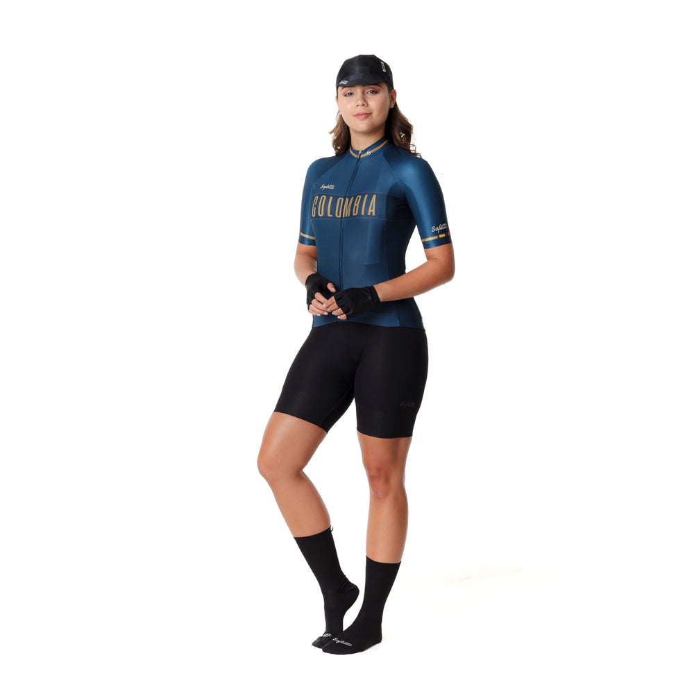 Pre-order Monument II - Colombia Navy - Short Sleeve Jersey. Women