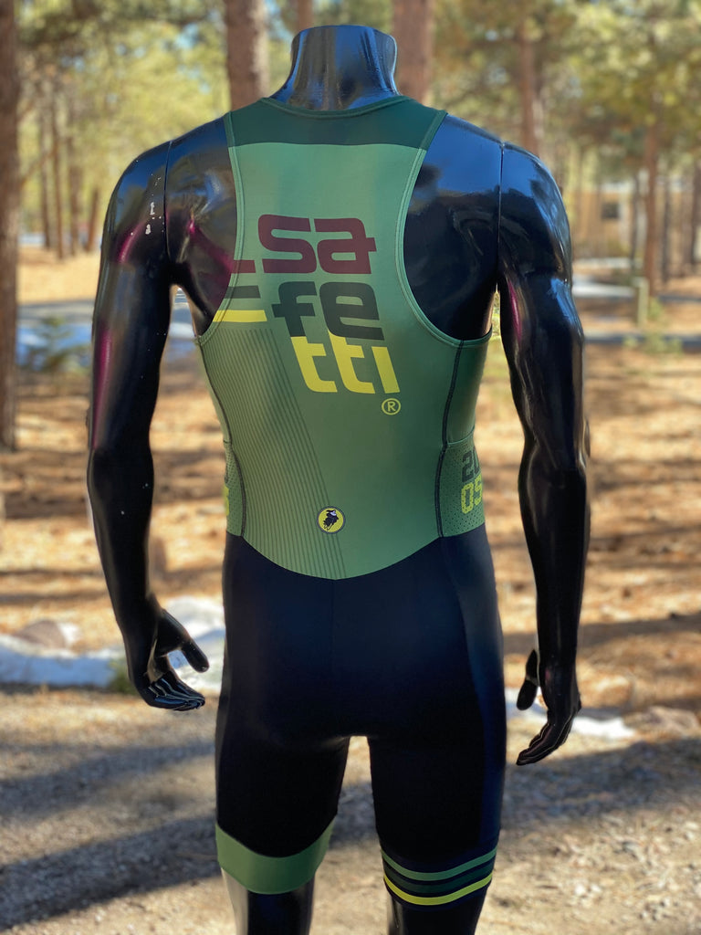 GREAT DEAL DON'T MISS IT - Safetti Urban Lycra Sport Trisuit - Green. Men