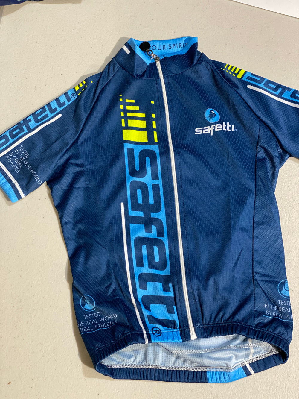 GREAT DEAL DON'T MISS IT - Safetti Retro Cycling Kit. Dark Blue. Junior