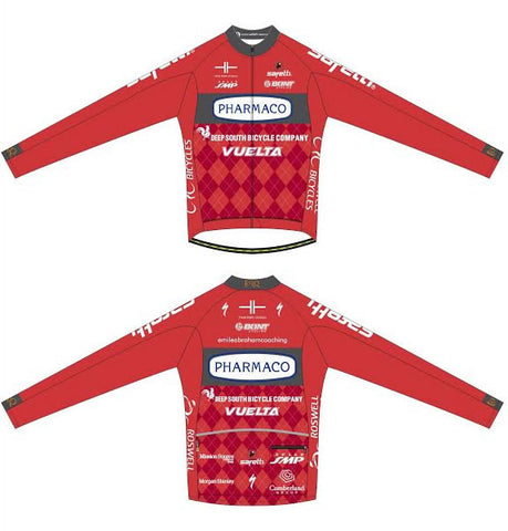 Pharmaco Georgia - Carrara Long Sleeve Cycling Jersey.  Men