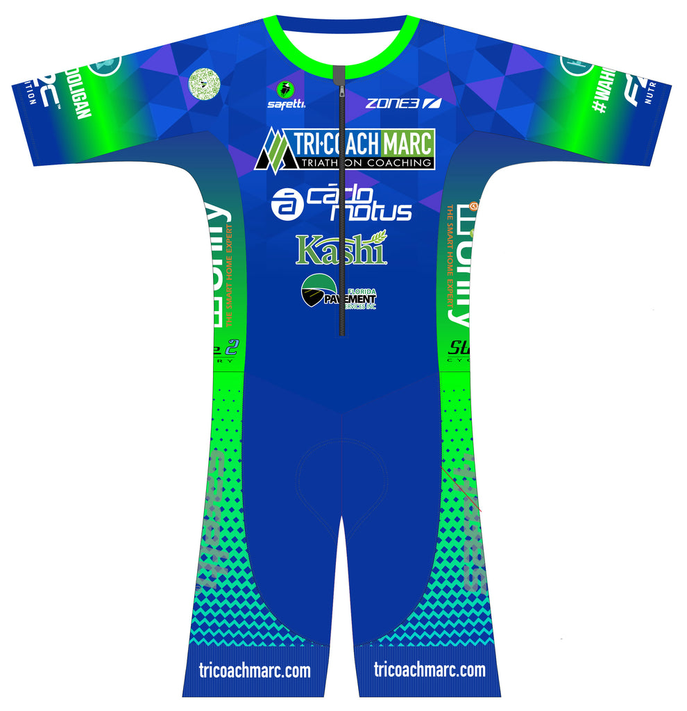TCM - Kona Performance Short Sleeve Triathlon Suit. Men