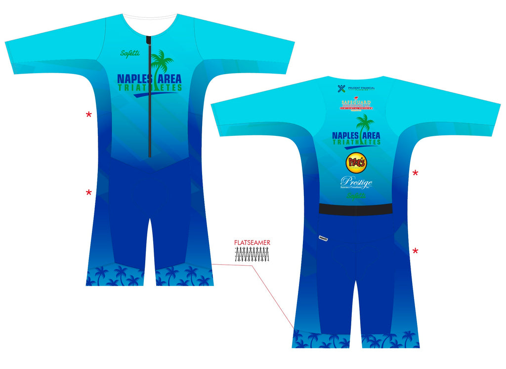NATS Naples - Kona. Sleeved Trisuit. Men