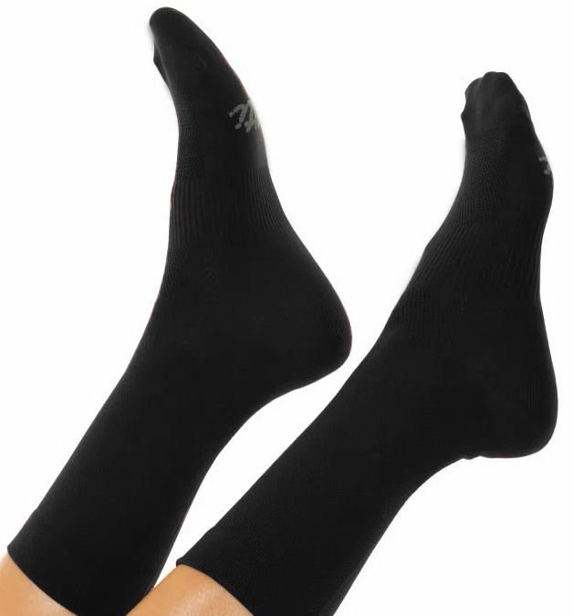 Black Cycling Socks. Unisex