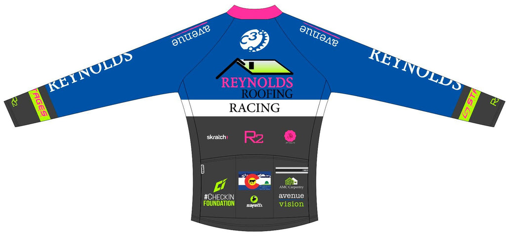 Reynolds Roofing - Blue Winter Jersey. Women