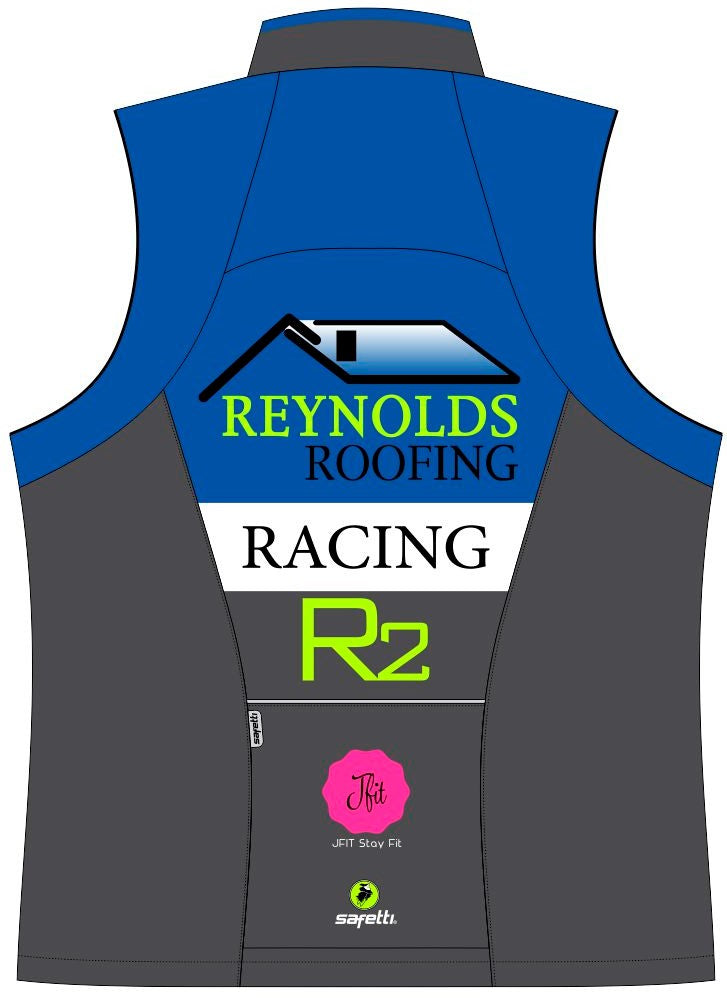 Reynolds Roofing - Blue Cycling Vest. Men