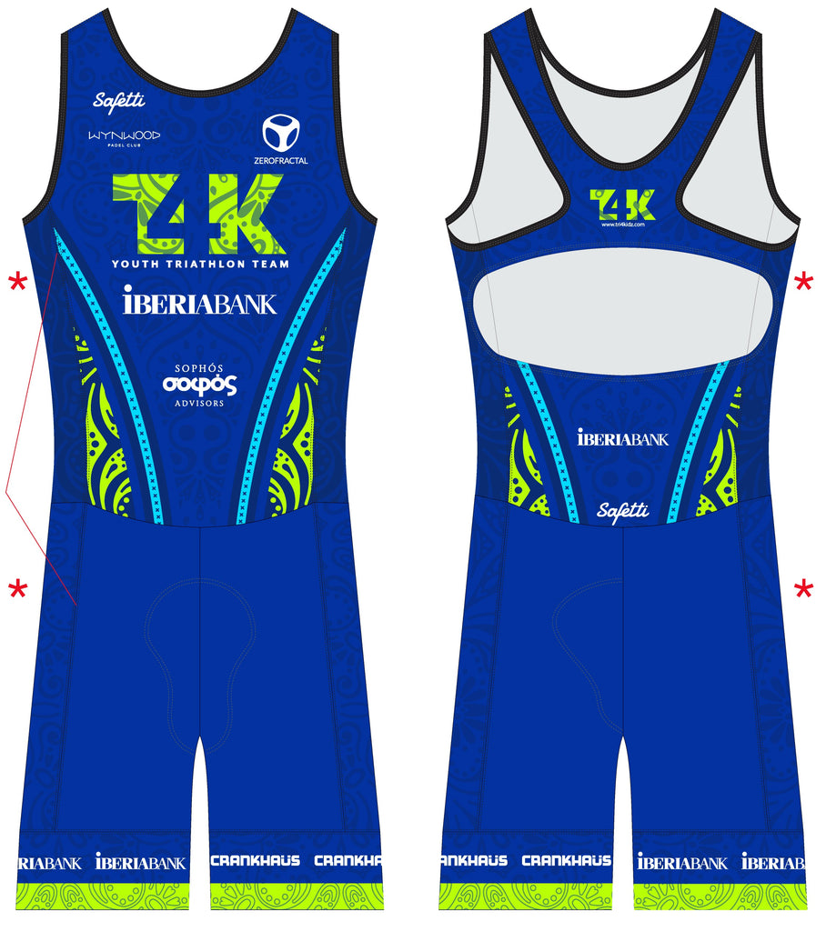 T4K - Acqua Zero Olympic Back. Sleeveless Triathlon SkinSuit. Women