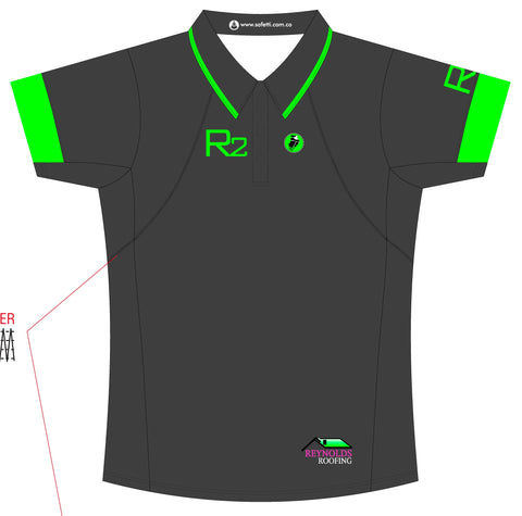 Reynolds Roofing - Green Polo Jersey. Women