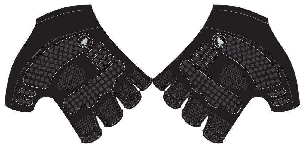 Reynolds Roofing - Pink Printed Cycling Short Finger Gloves. Unisex