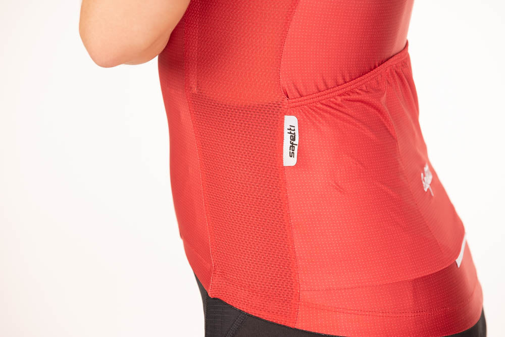 L'Infinito - Cosmo Rosso - Short Sleeve Jersey. Women