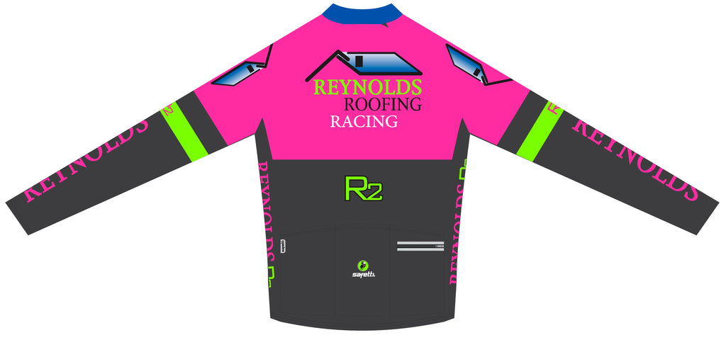 Reynolds Roofing - Pink Thermal Cycling Long Sleeve Jersey. Men