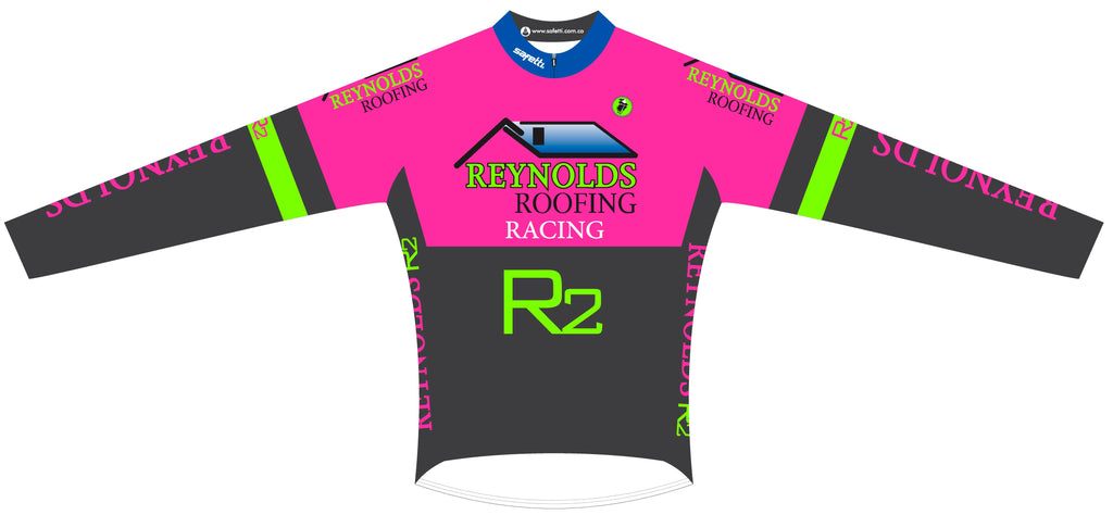 Reynolds Roofing - Pink Thermal Cycling Long Sleeve Jersey. Women