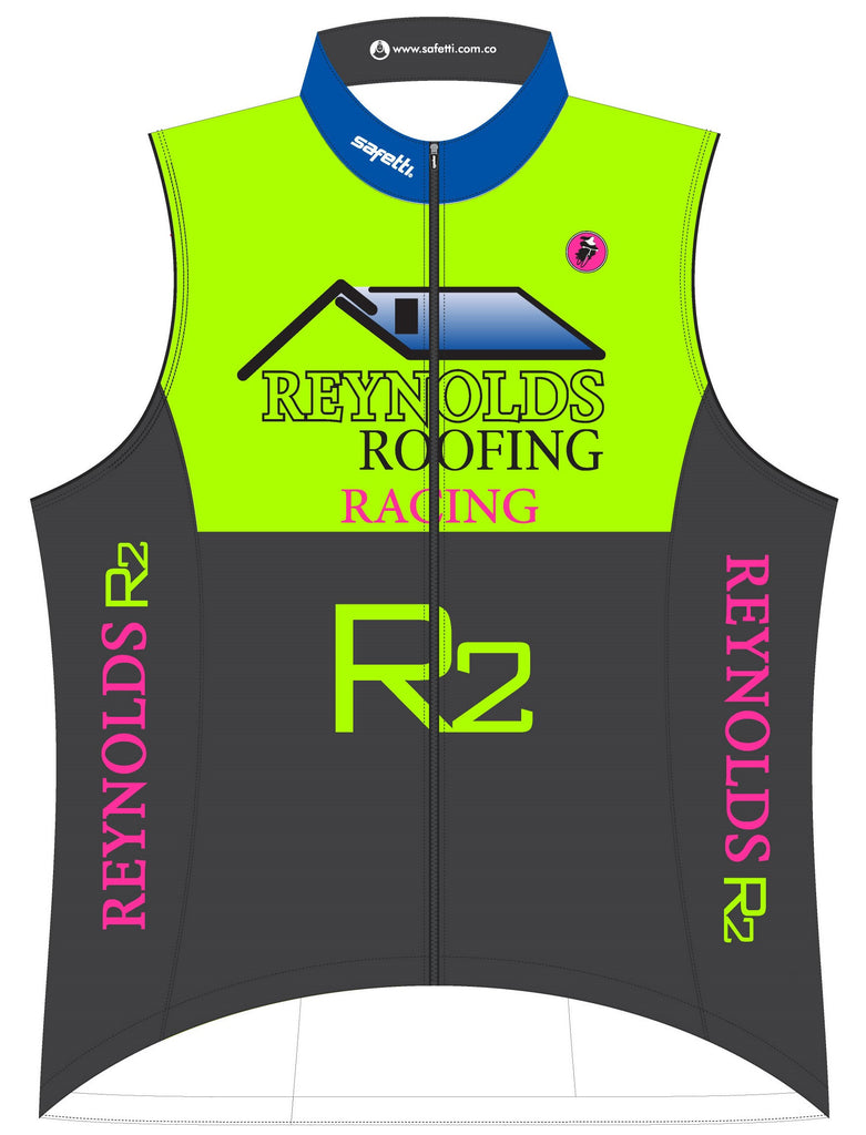 Reynolds Roofing - Green Cycling Vest. Men