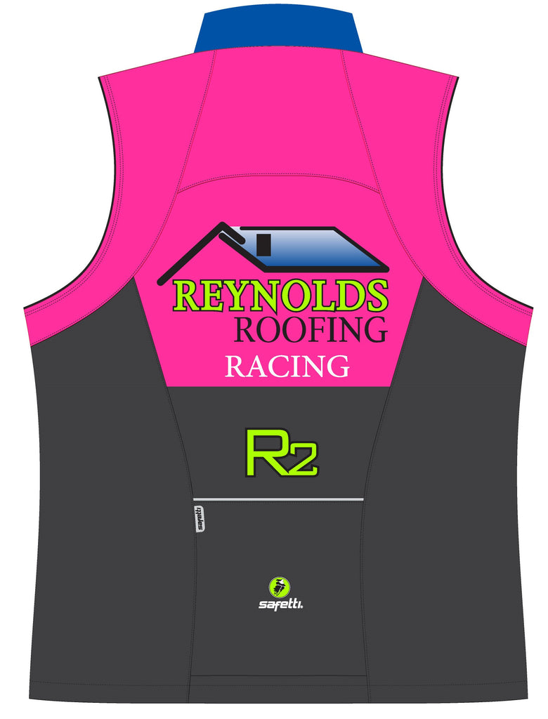 Reynolds Roofing - Pink Cycling Vest. Men