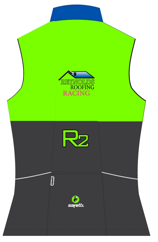 Reynolds Roofing - Green Cycling Vest. Women