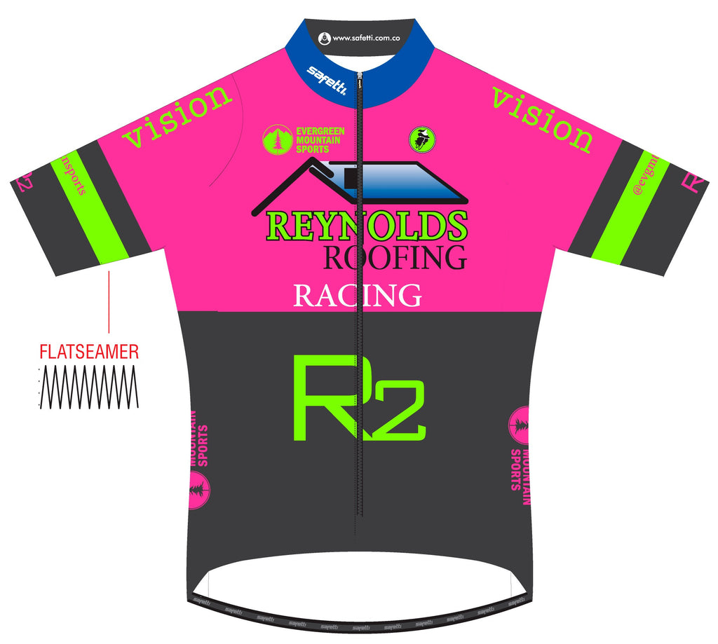 Reynolds Roofing - Lombardia Short Sleeve Cycling Jersey Pink 2020. Men