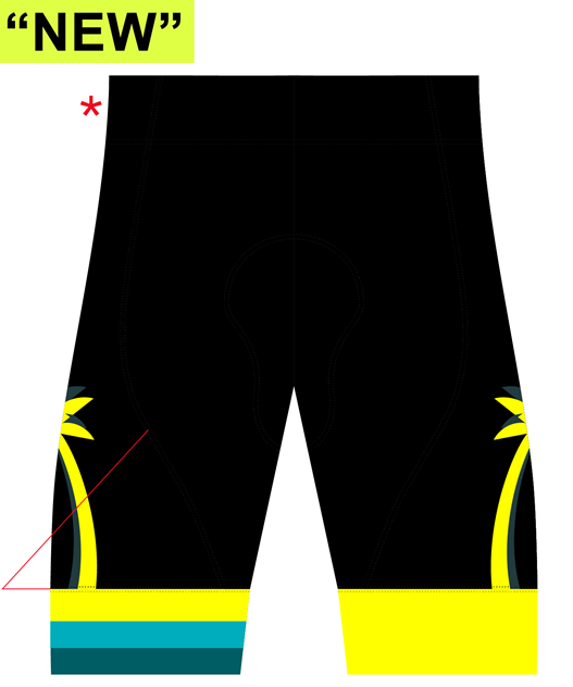 "NPC - PCT - ""NON BIB"" Cycling Platinum Shorts. MEN"