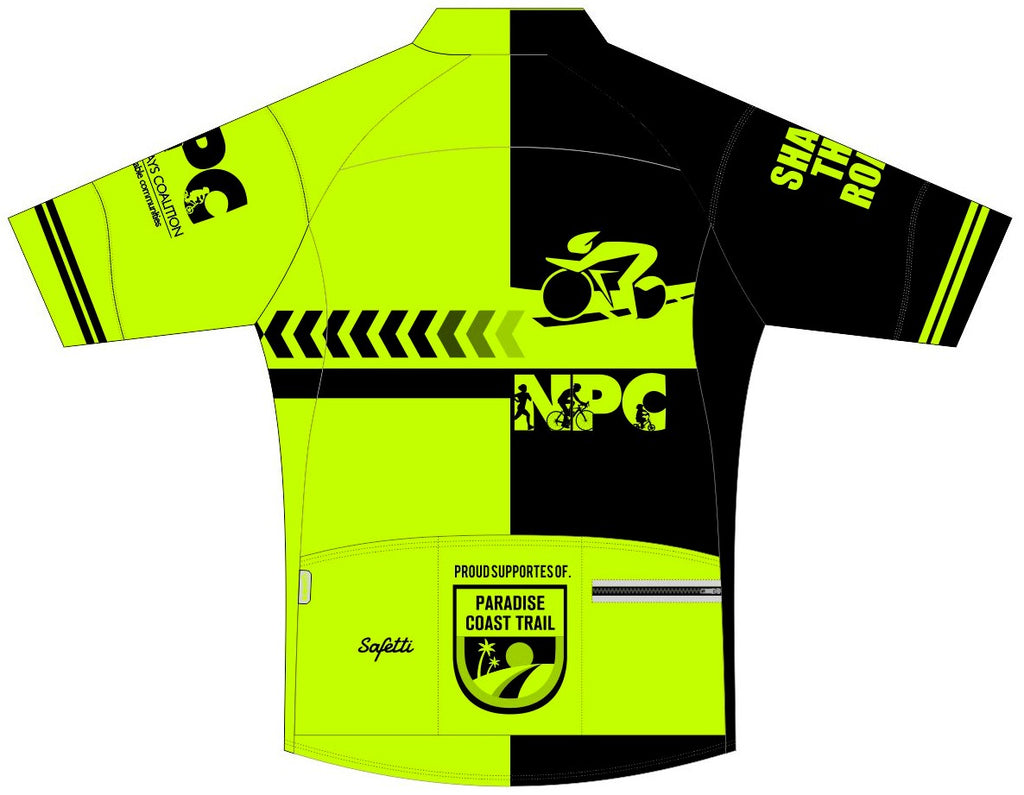 "NPC - Skin ""CLUB FIT"" Short Sleeve Cycling Jersey. MEN - FOR EXTENDED LENGTH (1 INCH LONGER) CHOOSE THE LONGER VERSION"