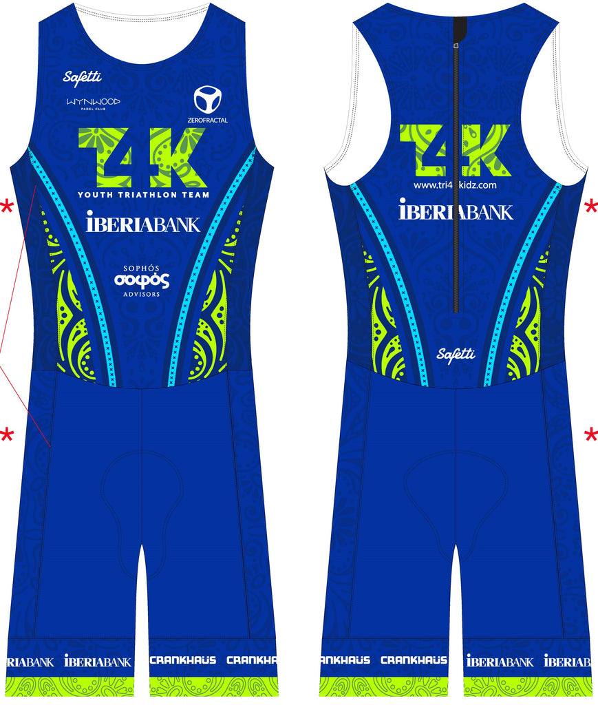 T4K - Acqua Zero Sleeveless Triathlon SkinSuit. Men
