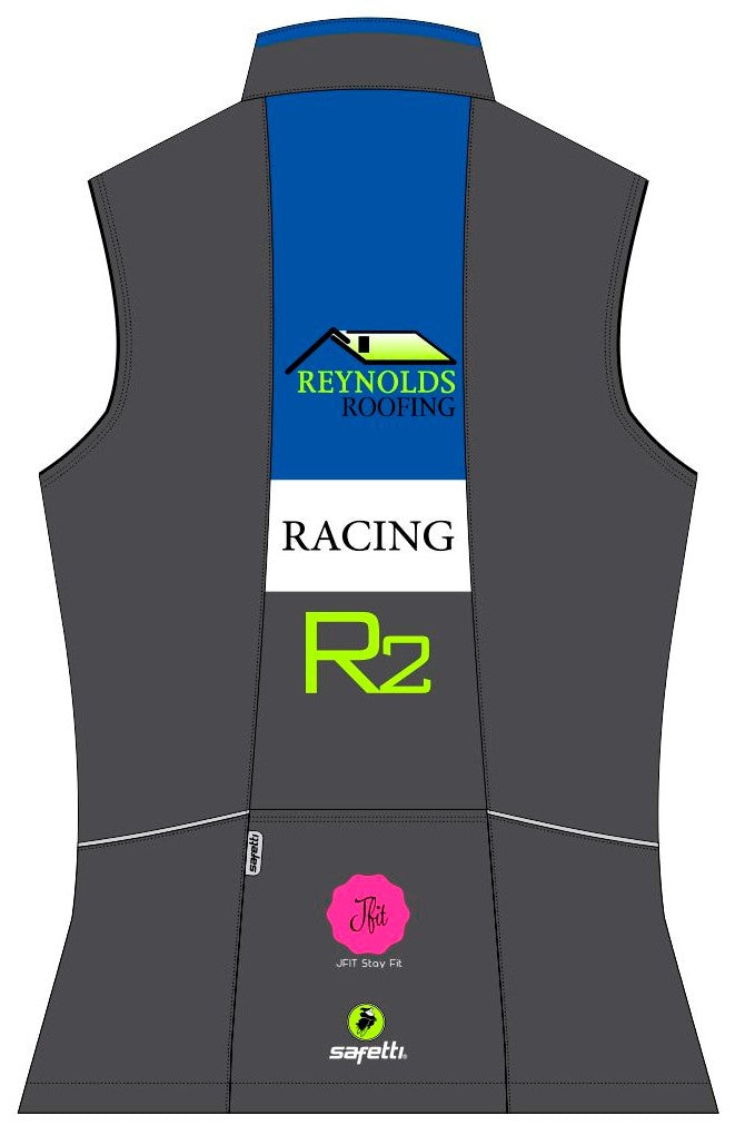 Reynolds Roofing - Blue Cycling Vest. Women