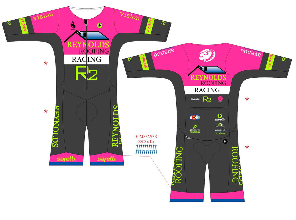 Reynolds Roofing - Cycling Milano Pink Skinsuit. Women