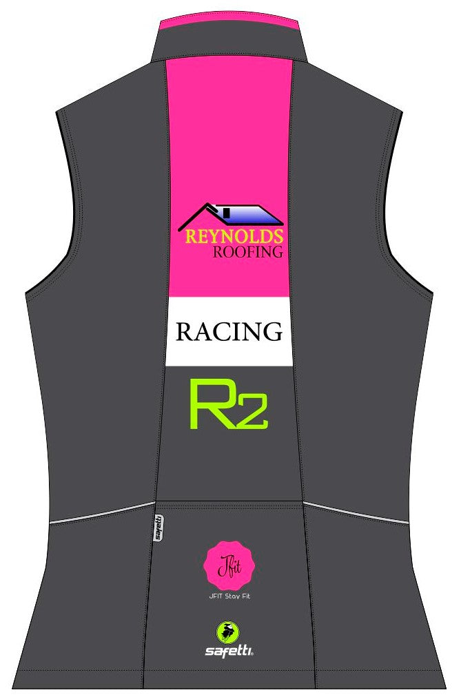 Reynolds Roofing - Pink Cycling Vest. Women