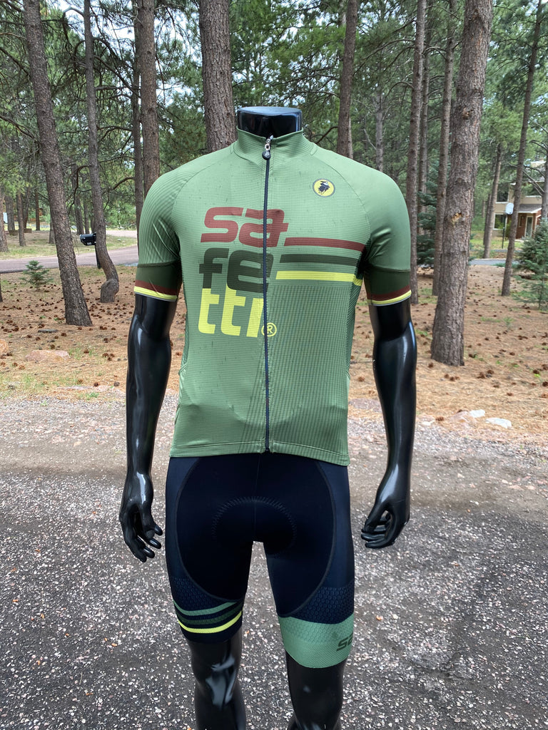 Safetti Retro Light Jersey Green. Men