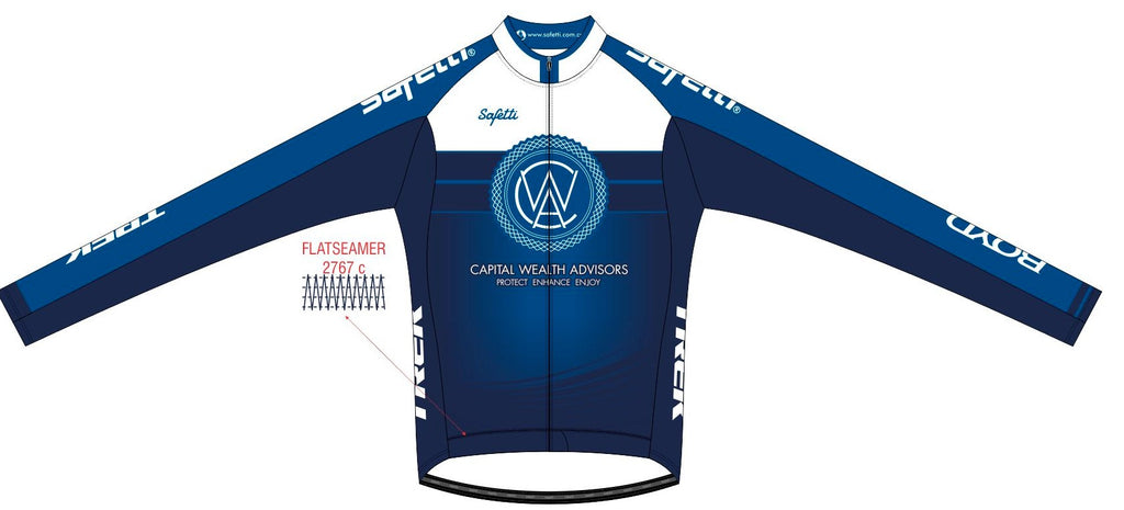 CWA Flamingo Racing - Firenze Ombre Long Sleeve Cycling Jersey. Men
