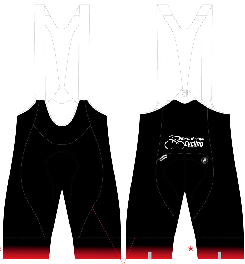 NGCA Club - Platinum GCC Cycling Bib Short. Women