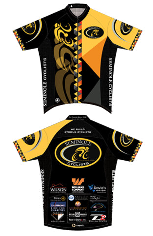 Seminole Cyclists - Basic Short Sleeve Cycling Jersey. Men
