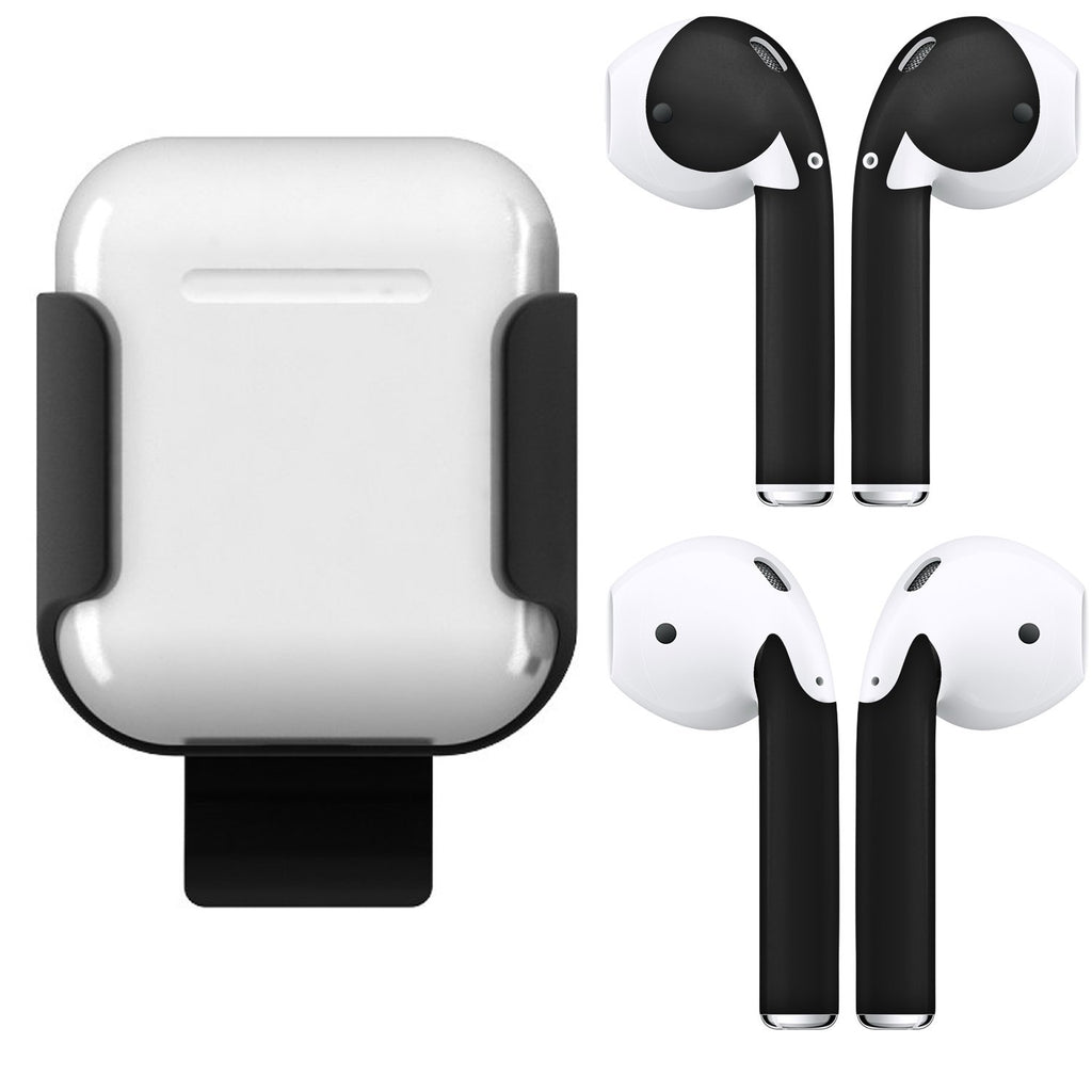 AirPods Skins and Charging Case Belt Clip Bundle