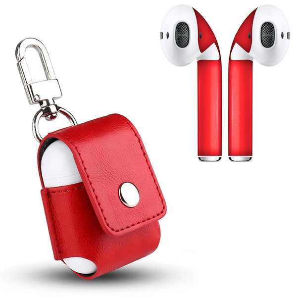 AirPod Skins and Protective Leather Charging Case Bundle