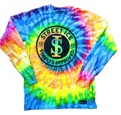 Street Ice Long Sleeve Shirt Tye Dye Round Logo