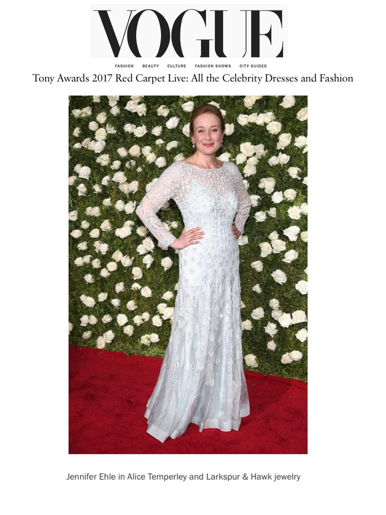 Vogue Online - Tony Awards - June 2017