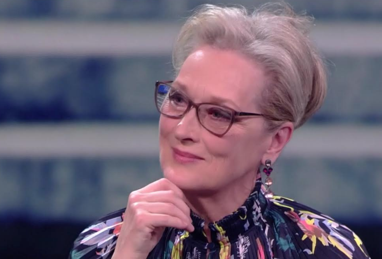 Meryl Streep on Che Tempo che fa - Jan 18, 2018