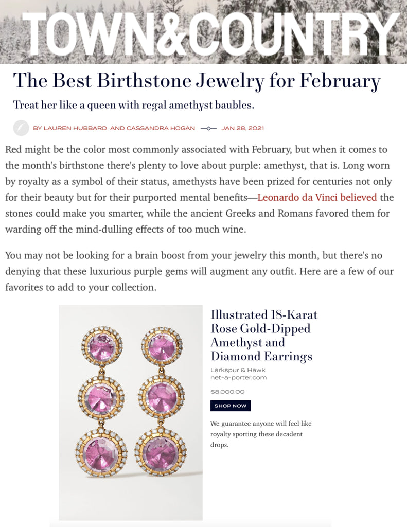 Town & Country Online - February Birthstones