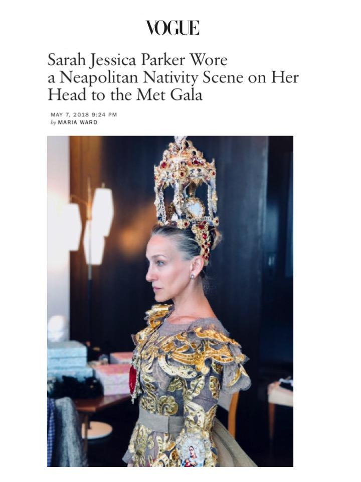 Vogue (Online) - Sarah Jessica Parker wears Larkspur & Hawk's small Jane stud to her fitting for the Met Gala