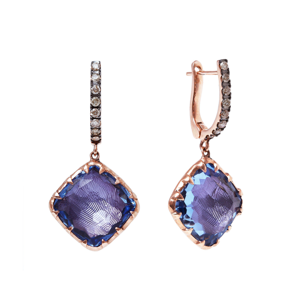 Caprice Cushion 1-Drop Earring