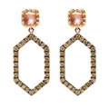 Caprice Cushion Hex Pavé Ghost Earring on Post