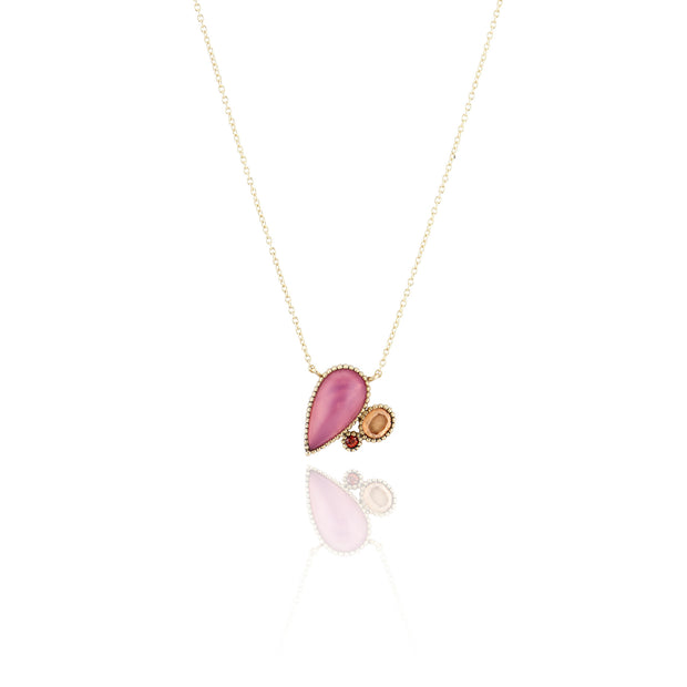 Pink Chalcedony / Bellini / Solid Yellow Gold