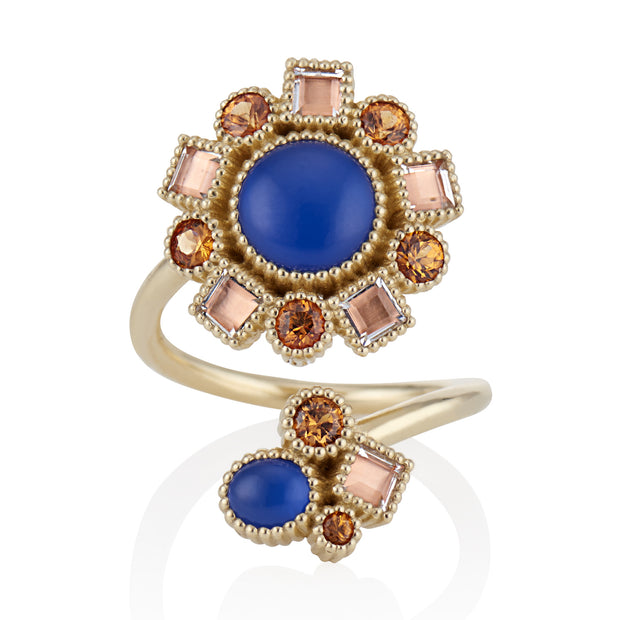 Blue Chalcedony / Bellini / Solid Yellow Gold