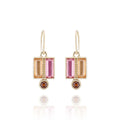 Cora Double Baguette Drop Earrings (Archive Sale)