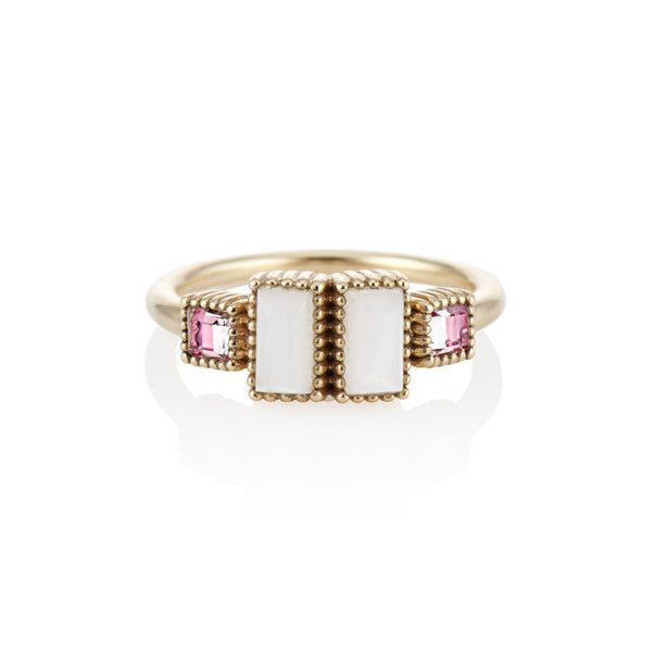 Cora Small Double Baguette Ring