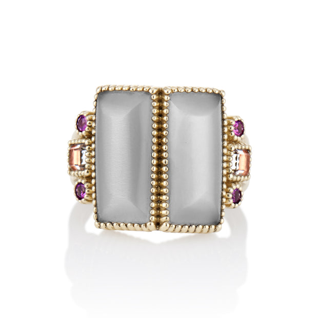 Grey Moonstone / Bellini / Solid Yellow Gold